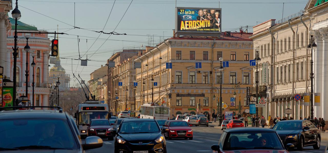 Реклама на видеоэкранах СПб